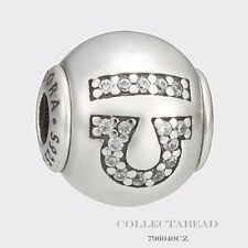 Authentic Pandora Essence Collection Sterling Silver Libra Bead 796040CZ