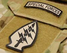 Infrared US Army Special Forces Arrowhead & Tab Set USSOCOM USASOC Green Beret