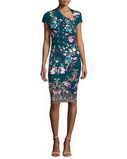 Roberto Cavalli Asymmetric Floral-Print Sheath Dress Size 42 NWT