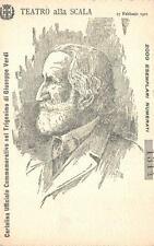 C3409) TEATRO ALLA SCALA 1901 CARTOLINA UFFICIALE TRIGESIMO DI VERDI ILL. CROTTA