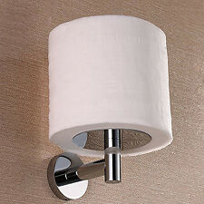 Modern Toilet Paper Holder Wall Mounted Chrome Finish Tissue Roll Stand Holder