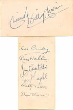 Billy Merrin And His Commanders autograph album pages signed by 7 Bandleader