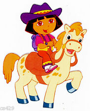 "6"" DORA COWGIRL  HORSE WALL STICKER GLOSSY BORDER CHARACTER CUT OUT"