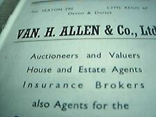 ephemera 1947 advert seaton van h allen & co ltd auctioneers