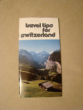 Travel Tips for Switzerland - Brochure - 1980