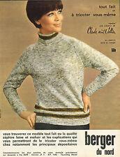 """Publicité 1966 berger du nord """"Agathe"""" une création de Claude saint Vallier mode"""