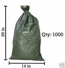 Sandbaggy 1000 Green Empty Sandbags For Sale 14x26 Sandbag Sand Bags Bag Poly