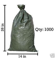 Sandbaggy 1000 Green Empty Sandbags For Sale 14x26 Sandbag Sand Bags Bag Poly