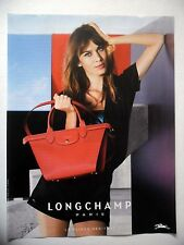 PUBLICITE-ADVERTISING :  LONGCHAMP Pliage Héritage  2015 Sac Cuir rouge,Mode
