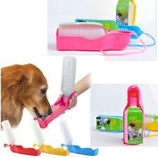 Portable Foldable Plastic Feeding Bowl Dog Cat Travel Pet Water Bottle