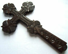 Ukrainian Hutsul wooden wood Wall Cross hand carved handmade crafted art gift #4