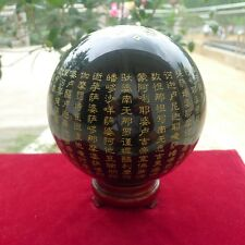 LB Natural Black Obsidian Sphere Large Crystal Ball Healing Stone+stand (2)