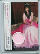 JAPANESE IDOL Rina Akiyama COSTUME WORN SWATCH CARD skirt 67/145