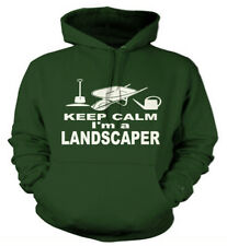 Keep Calm I'm a Landscaper Custom Printed Hoodies, Personalised Hoody, Work Wear