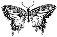Unmounted Rubber Stamp, Butterfly Stamps, Butterflies, Nature Stamps, Art Stamps