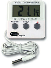 FRIDGE THERMOMETER WITH ALARM IN OUT FREEZER  *TWO YEAR WARRANTY* - 22/420/3