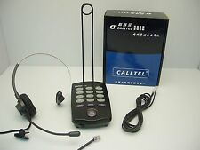 CallTel T100 Mono Headset with CT-200 Dial Key Pad for Call Center SOHO & Office
