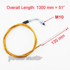 "51"" Gas Throttle Cable For 49cc 50cc 66cc 80cc Motorized Bicycle Push Bike Gold"