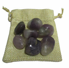 Amethyst Pebbles With Jute Bag For Reiki Crystal Chakra Healing Vastu Feng  Shui