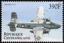 North American B-25 Mitchell aviones Sello (2000 República Centroafricana)