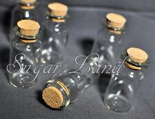 60 Glass Bottles Destination Beach Wedding Cork Tops Fillable Favors Lot Gifts