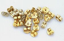 200 GOLDPLATED GOLD PLATED SLIDE ON EAR POST NUT STOPPER BACK NUT FINDING CF507