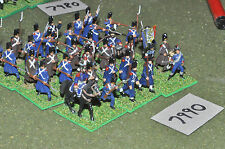 20mm napoleonic french old guard 34 figures (7990) painted plastic