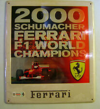 TARGHE IN LATTA FERRARI n.1 - 2000 Schumacher Ferrari F1 world Champion