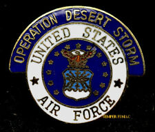 Original OPERATION DESERT STORM 1990 LAPEL HAT PIN UP US AIR FORCE GULF WAR WOW