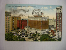 VINTAGE POSTCARD VIEW FROM STATE CAPITOL DOME IN COLUMBUS OHIO 1917