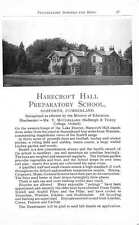 1955 Harecroft Hall  Gosforth Mcclelland Branksome Hilders Haslemere Smith Ad