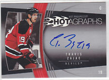 2006 06-07 Hot Prospects Hotagraphs #HTZ Travis Zajac Autograph