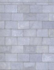 1/12 scale   Dolls House Wallpaper        Grey Slate Roofing Paper    PP110