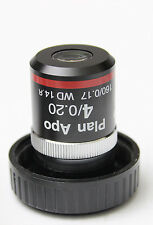 Nikon PlanApo 4x 0.20 160 0.17 Microscope Objective Optiphot Labophot Plan Apo