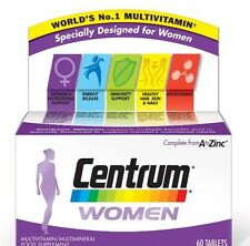 Centrum For Women Vitamin Tablets A to Zinc Multi Vitamins 60 Tablets Long Date