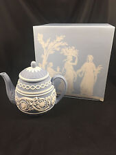 MIB WEDGWOOD JASPERWARE ARABESQUE 250TH ANNIVERSARY TEAPOT WITH LID TEA POT MINT