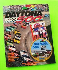 1994 DAYTONA 500 NASCAR PROGRAM w/ EMBROIDERED JACKET PATCH Sterling Marlin Wins