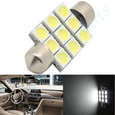 1pc White LED 39mm  9-SMD Festoon Dome Map Interior Light Tail Lamp Bulb