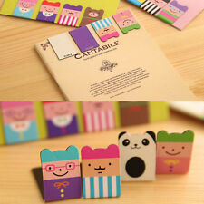Sell well 4Pcs Bookmarks Note Pad Memo Stationery Book Mark Novelty Funny Gift