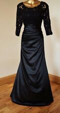 ALEXA NEW LONG BLACK LACE EVENING BALLGOWN PARTY OCCASION MAXI DRESS SIZE 18