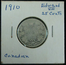 1910 Canadian Canada Silver Quarter 25 Cents,  #1959