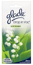 Glade 3 Sachets Drop in Vac Lily Of The Valley Vaccume Hoover Freshner