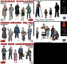 Master Box MB & MiniArt 1/35 WWII Civilians Set in Europe (5 Boxes)