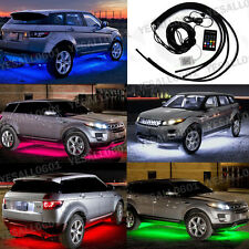 4x RGB LED Car Tube Strip Underbody Glow Neon Light Wireless Control Multi Color