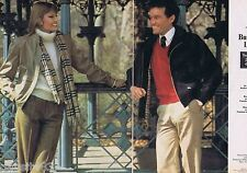 PUBLICITE ADVERTISING 095 1981 Burberry's collection homme et femme (2 pages)