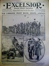 WW1 FRONT RUSSE BUKOVINE ITALIENS AUTRICHIENS PRUNA-LUNETTA EXCELSIOR 8/07/1916