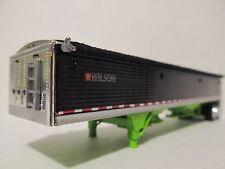 DCP 1/64 SCALE WILSON GRAIN TRAILER (HOPPER BOTTOM)  BLACK /LIME GREEN BOTTOM