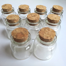 Luo House 10PCS 15ml Cute Small Cork Stopper Glass Bottle Vials Jars with Cork 3