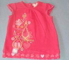 Bright Bots Cute Girls Hot Pink Tee With Hearts, Size 0