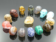 Wholesale Lot 8pcs Natural Stone skull Gemstone Necklace Pendant for women